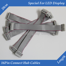 20pcs/lot Pure coppoer  LED display 16Pin Ribbon cable connect hub flat cable signal transmit data line adapter