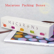 Macarons Moon cake Packing box biscuit nougat  green bean cake yolk Crisp  snow Mei Niang macarons  10PCS