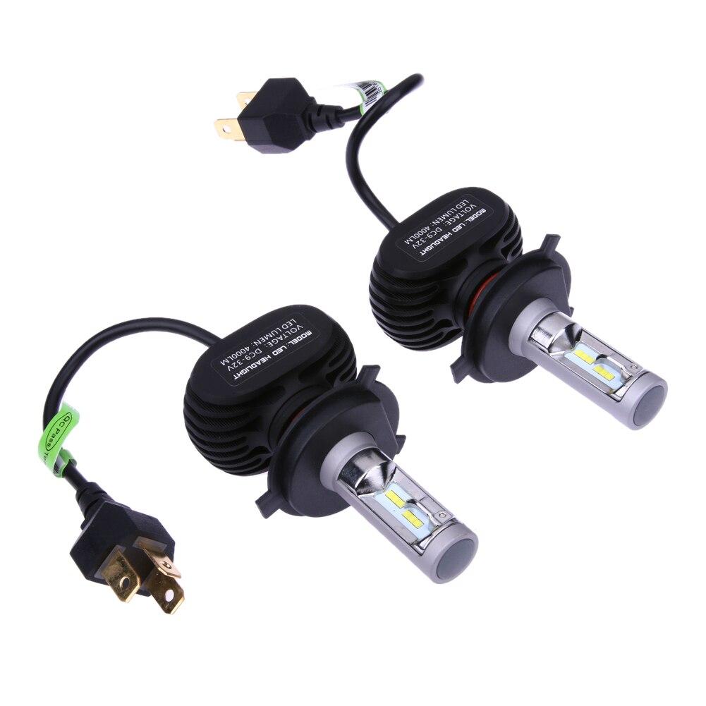 2 X Car LED Headlamps Car LED Headlights Bulb Aluminum H4 50W 6500K Car Auto Headlamp Fog Parking External Lighting ME3L<br>