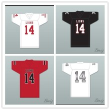 XS-6XL De'Andre Johnson 14 EMCC Lions White Black Red Alternate Football Jersey Free Shiping(China)