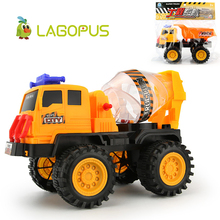 Lagopus Large Engineering Vehicles Excavator Trucks Cement Mixer Car Action Children Toy Cars for Toddlers Kids Best Gifts