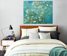 Blossoming Almond Tree Canvas Painting Of Vincent Van Gogh Reproduction Oil Painting On Canvas Wall Art Picture