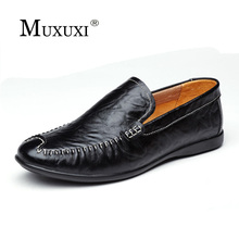 Buy New arrival high genuine leather comfortable casual shoes men cow suede loafers shoes soft breathable men flats driving shoes for $38.94 in AliExpress store