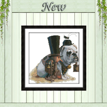 Lead the way dog animal painting counted printed on canvas DMC 14CT 11CT DMC chinese Cross Stitch Embroidery kits Needlework Set(China)