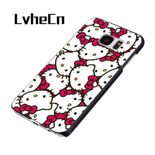 LvheCn Hello Kitty Pink Collage Cartoon phone case cover for Samsung Galaxy S3 S4 S5 S6 S7 S8 edge plus Note 2 3 4 5 8(China)