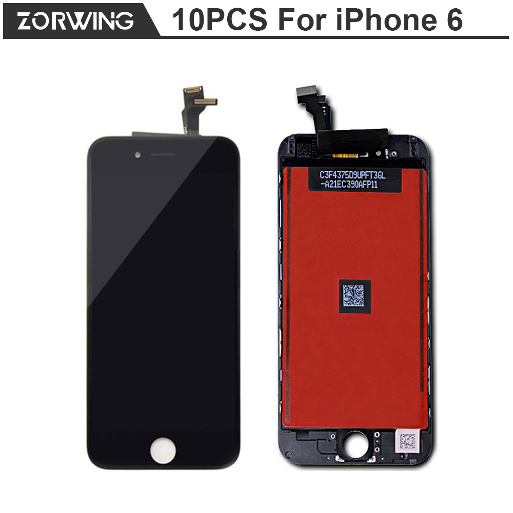 10PCS/LOT Grade AAA 4.7 inch Replacement Screen LCD For iPhone 6 Display With Digitizer Touch Screen Assembly in 5 Black 5 White<br><br>Aliexpress