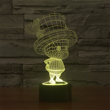 Lovely 3D Illusion Night Ligh One Piece Chopper Visual Lamp Sensor Night Light LED Lighting Toy decoration Table Lamp Kids Gift