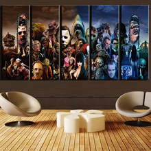 Modern Wall Art Printed Landscape Canvas Poster 5 Piece Horror Movie Characters Group Painting Frames Home Decor Pictures PENGDA