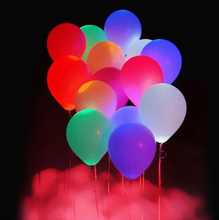 10 Pcs/set Funny 12inch LED Lighting Wedding Balloons Luminous Latex Hellium Air Balloon Birthday Party Celebration Supplies