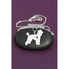 1pcs Dainty Poodle Necklace Pendant Puppy Heart Dog Lover Memorial Pet Necklaces & Pendants Women Animal Charms Christmas Gift