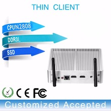 MINI computer for office or home window7 or 10 J1900 OR N3510 thin client support 6 USB port and wifi optional(China)