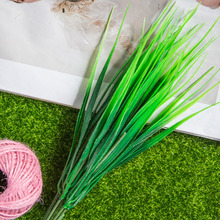 2016 New 7-fork Green Grass Artificial Plants For Plastic Flowers Household Store Desk Rustic Decoration Clover Plant