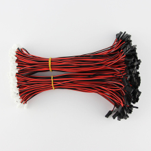 Customization 500Pcs 20cm JR Male Plug to Molex Female Connector Servo Extension Lead Wire 2 pin Black Red 26awg 30 cores Cable(China)