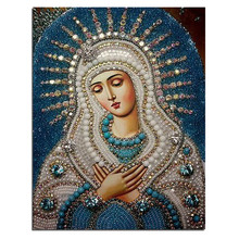 5D diy diamond painting cross stitch 3d diamond embroidery kits diamond mosaic religious Picture rhinestones embroidery gift(China)