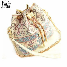 2017 Simple new design ladies hand bags Floral Shoulder Bag Womens Crossbody Bag Bucket Bag Satchel ladies handbags big discount
