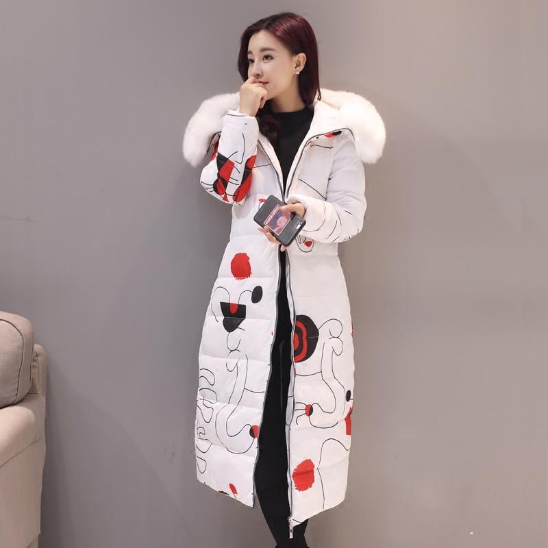 2017 Top Fashion Full Zipper Broadcloth Long Ukraine Winter Women Coat New Slim Thick Removable Printing Parka Collar Jacket Îäåæäà è àêñåññóàðû<br><br>