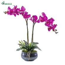 Phalaenopsis Orchid Silk Real Touch Flower White Artificial Flower Wedding Flower Orchid Floral Christmas Party Home Decoration