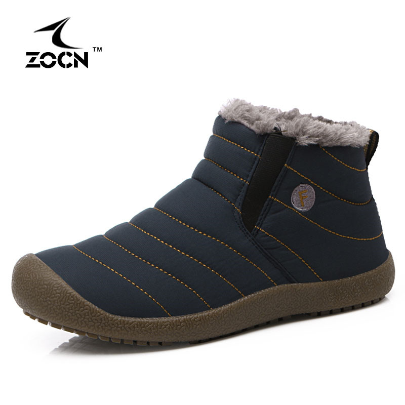 ZOCN Unisex Waterproof Casual Shoes With Fur Slip On Shoes For Ladies Men Flats Shoes Warm Winter Fashion Zapatos Mujer 35-45<br><br>Aliexpress