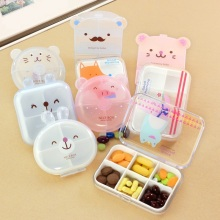 Cute Mini Cartoon Vitamin Tablet Pill Box Kawaii Drug Case Food Organizer Storage Container Medicine Box Kit Free Shipping 268(China)