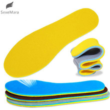SexeMara  1Pair Women Men Memory Shoes Insoles Absorbent Deodorant Foot Care Soft Pain Relief Soft For Shoes