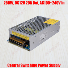 20A 250W DC 12V Output AC 110V 220V In Centralized Power Supply Central Switching Power Source for CCTV Camera Security System(China)
