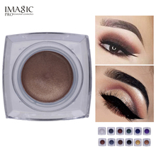 Professional IMAGIC Eyes Color Cosmetics Waterproof Pigments Smoky Black Brown Brand Makeup Eyeshadow Cream Palette(China)
