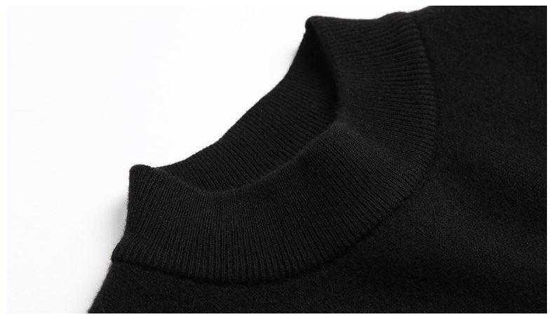 100% Wool sweater men turtleneck striped pure woolen mens sweaters male pullover autumn winter knitwear Brand Muls M-4XL 3126-05
