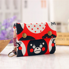 Canvas cartoon women mini wallet children small pouch small money bag female coin purse carteira feminina for kids girls boys