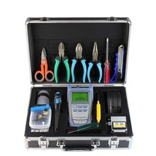 27PCS FTTH fiber optic Splice toolbox FTTH  Fiber Optic Tool Kit FC-6S and Fiber Meter 10MW VFL Kevlar scissors Wire strippers