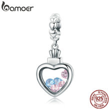 Buy BAMOER 100% 925 Sterling Silver Romantic Heart Pendant AAA Zircon Charm fit Women Bracelet & Necklace Fine Jewelry S925 SCC588 for $10.99 in AliExpress store