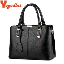 Yogodlns 2017 new ladies pu leather messenger bags Women luxury handbags new stylish female shoulder bags sac a main bolsos(China)