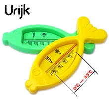 Urijk 1Pc 0-45 Thermometer Analog Room Water Thermometer Dry Wet Baby Toy Fish Shape Household Measuring Hand Tool High Quality(China)