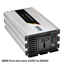 1200w Peak power inverter rated power 600W household and Car DC12V TO AC220V 50HZ pure sine wave 600W Solar Power Inverter dc ac