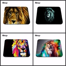 Hot 2017 Low High Quality Glowing Lion Art And Tiger Pattern Durable Mini Optics Computer Rectangular Game and Office Mouse Pad