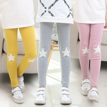 Autumn Kids Leggings For Girls Star Trousers Children Clothing 2 4 6 8 10 12 Years 2016 Cotton Pants Girls Clothes