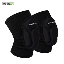 WOSAWE New Arrival Thick Leg Knee Support Brace Wrap Kneepad Protector Patella Guard Volleyball Knee Pad for Extreme Sports
