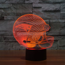 NFL Team New England Patriots Logo Collection 3D Football Helmet Visual Lamp Home Decor LED Table Lamp Night light Drop Ship