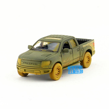 KINSMART Die Cast Metal Model/1:46 Scale/Ford F-150 Raptor SuperCrew (Muddy) toy/Pull Back Car for children's gift/Collection