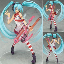 Anime New Hatsune Miku Greatest Idol Ver. Electric Guitar Miku PVC Action Figure Collectible Brinquedos Model Kids Toys 20cm