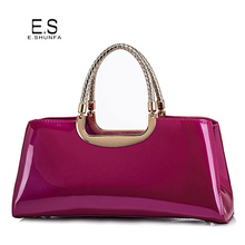 Patent Leather Tote Bag Handbag 2017 New Arrival Casual Womens Bag Large Zipper High Quality Fashion Elegant Handbags For Women(China)
