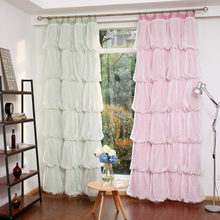 SunnyRain 1-Piece Multilayer Princess Design Curtain For Bedroom Blackout Curtains For Children Room Drapes Customizable
