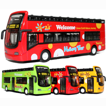 Pull Back Public Bus school bus toys car model car vehicles kids toy cars toys Alloy wltoys Diecast car model Boy toy gift(China)