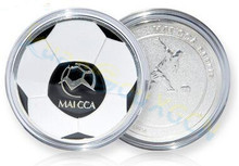 soccer football champion pick edge finder coin toss referee side coin Judge Flipping Professional soccer Match Supplies(China)