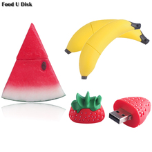 Creative Food USB Flash Drive Banana & watermelon & Strawberry Pen Drive 4gb 8gb 16gb 32gb 64gb MicroData Memory Stick U Disk
