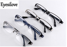 Eyesilove Retail 1pcs half-rim optical frames with spring hinge men women eyeglasses for prescription glasses many colors