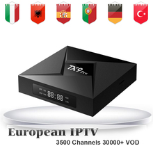 Turkey IPTV Box TX9 Pro Amlogic S912 TV Box Android 7.1 3GB 32G OS Europe German Spain Albanian IPTV 3500+ Channels Smart TV Box(China)