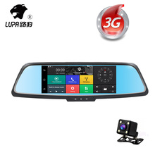 LUPA 7Inch HD 1080P Car Dvr Camera 3G&WIFI Android 5.0 GPS Navigation Rear View Mirror DVR Video Recorder Car Camcorder Dash Cam(China)