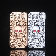 Personality Skull metal windproof lighter electroplated smoking lighters Men gas Cigarette Lighter Gift lighters-XC506