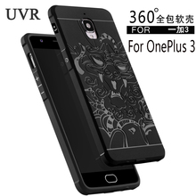 UVR Phone cases For OnePlus 3 Silicone Hard Protective Back Cover For One plus 3 A3000 Rain phone shell housing(China)