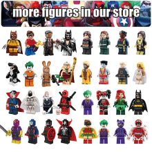 Single Sale Batman Joker Robin Deadpool XMen Marvel legends DC Super Heroes Building Blocks Avengers Figures Toys For Children